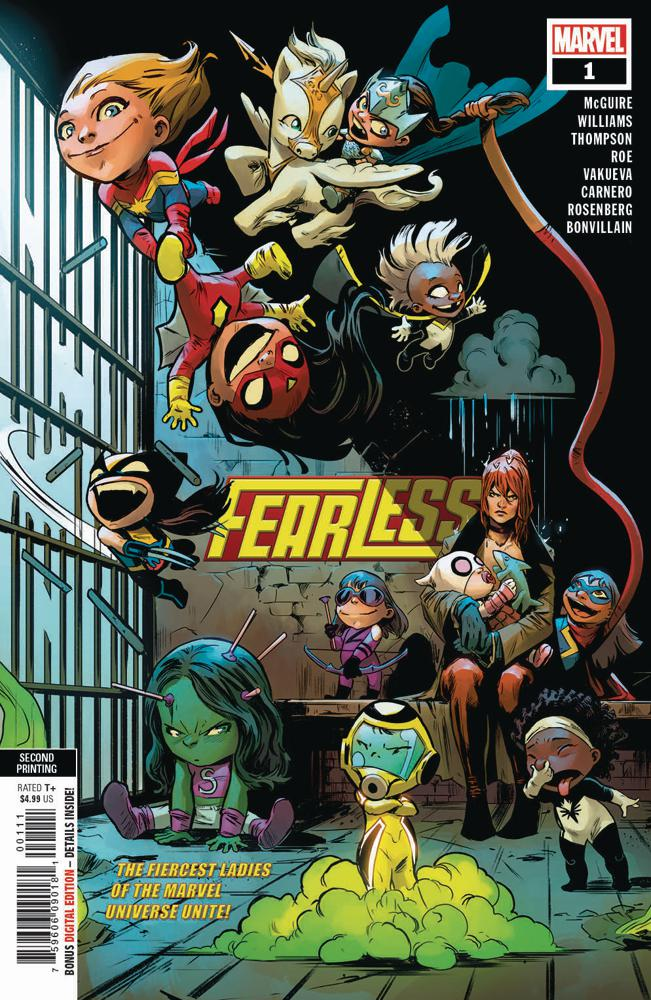 Fearless #1 Cover D 2nd Ptg Variant Camen Nunez Carnero Cover