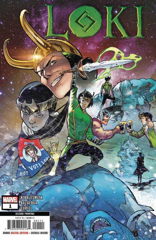 Loki Vol 3 #1 Cover F 2nd Ptg Variant Oscar Bazaldua Cover