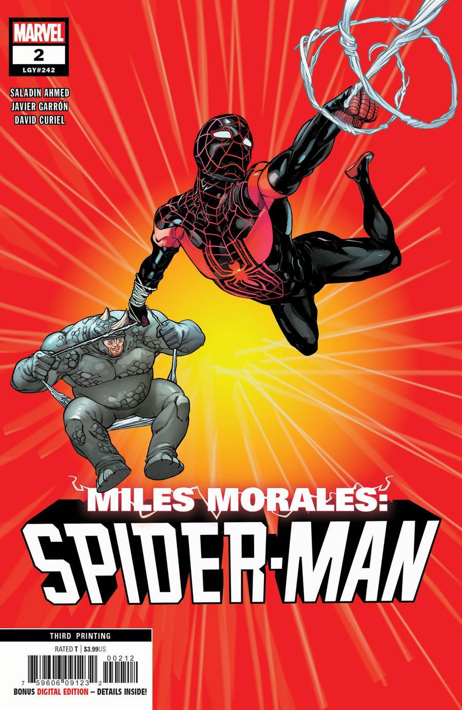 Miles Morales Spider-Man #2 Cover D 3rd Ptg Variant Javi Garron Cover