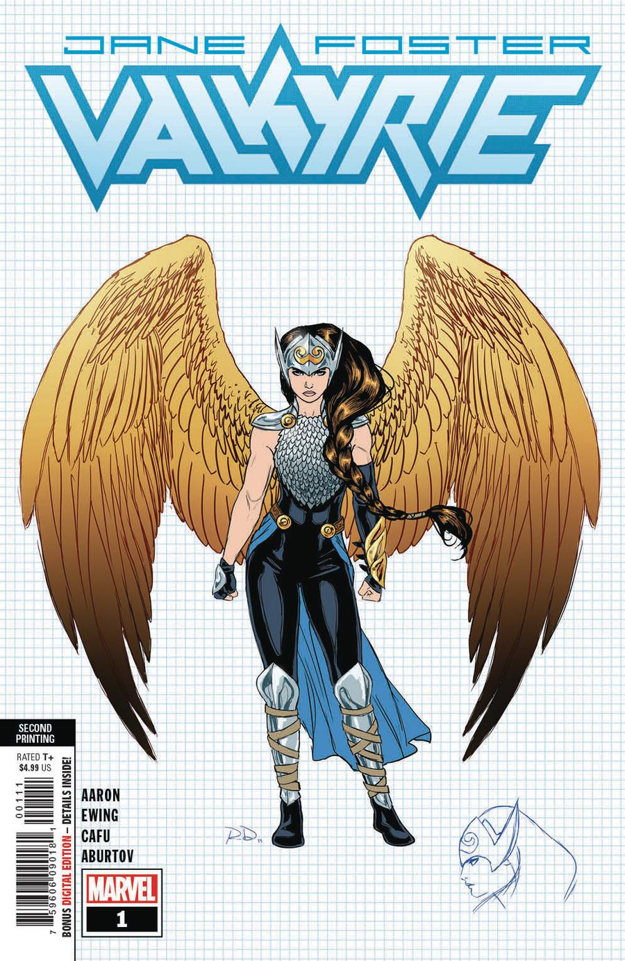 Valkyrie Jane Foster #1 Cover F 2nd Ptg Variant Russell Dauterman New Art Cover