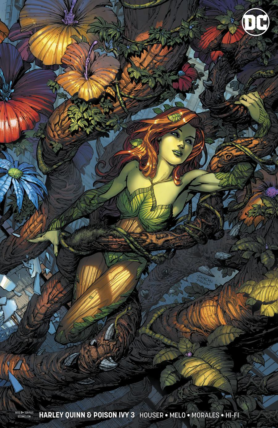 Harley Quinn And Poison Ivy #3 Cover C Variant David Finch Poison Ivy Card Stock Cover