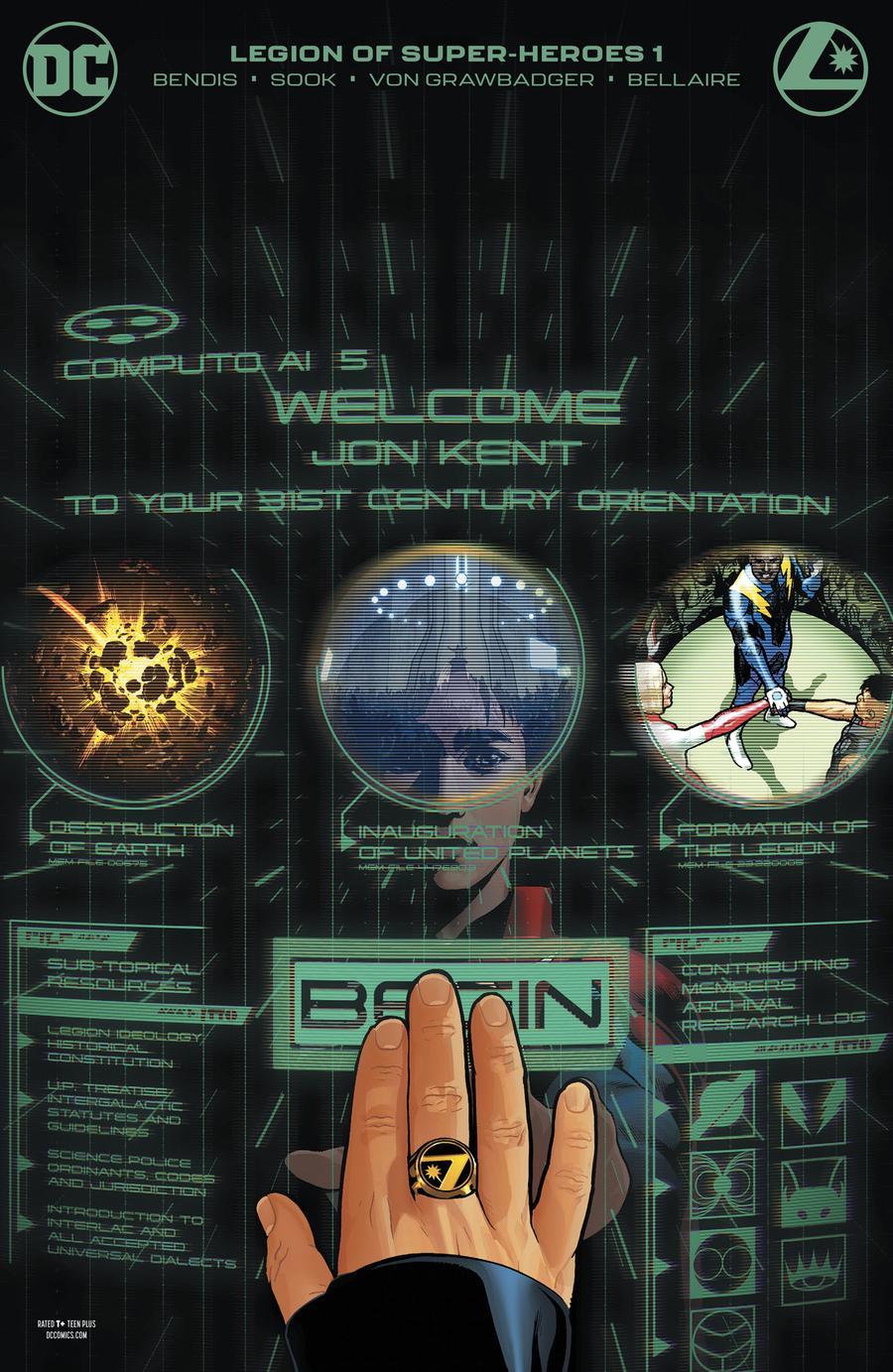 Legion Of Super-Heroes Vol 8 #1 Cover C Variant Ryan Sook Card Stock Cover