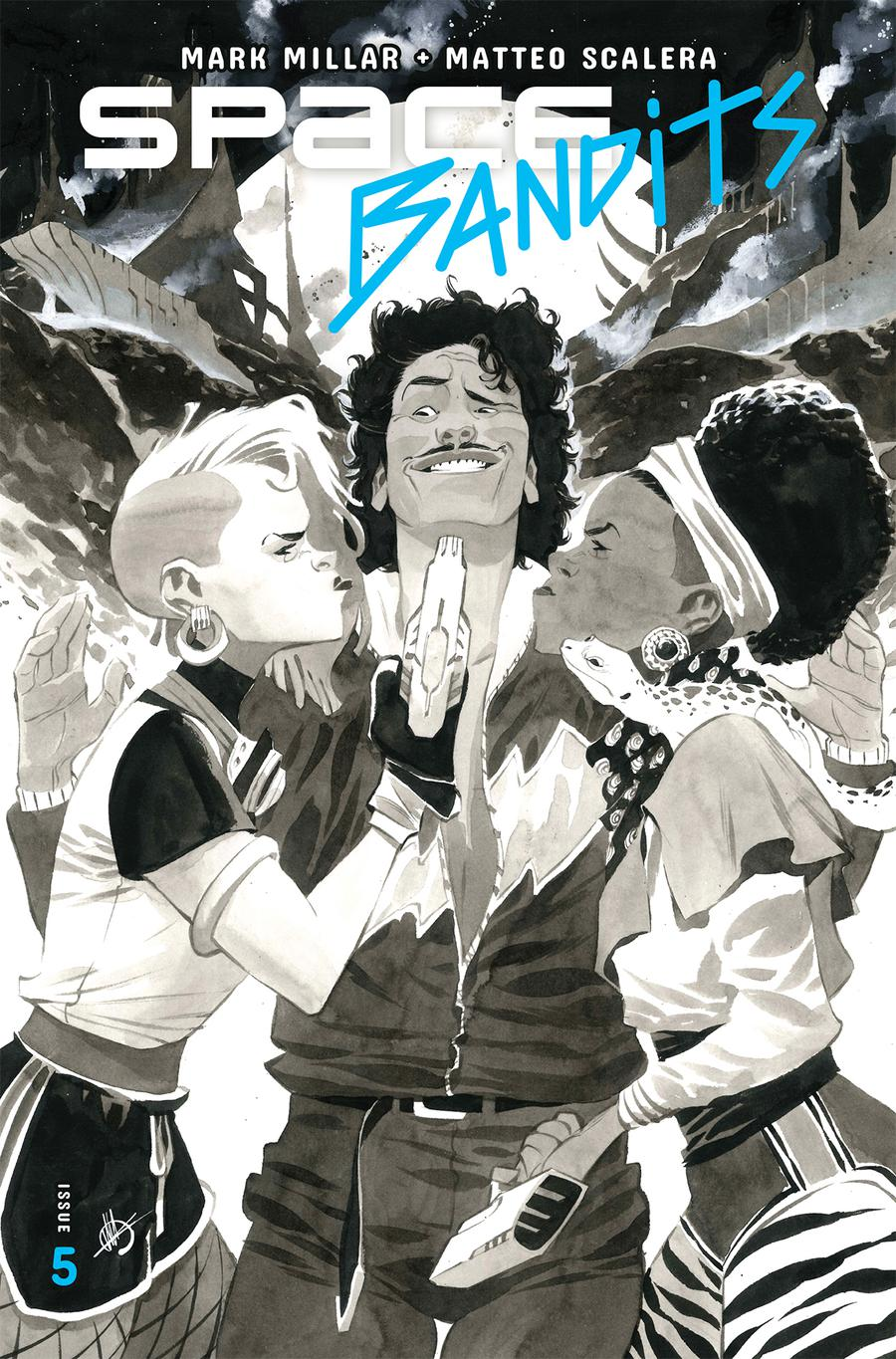 Space Bandits #5 Cover B Variant Matteo Scalera Sketch Cover