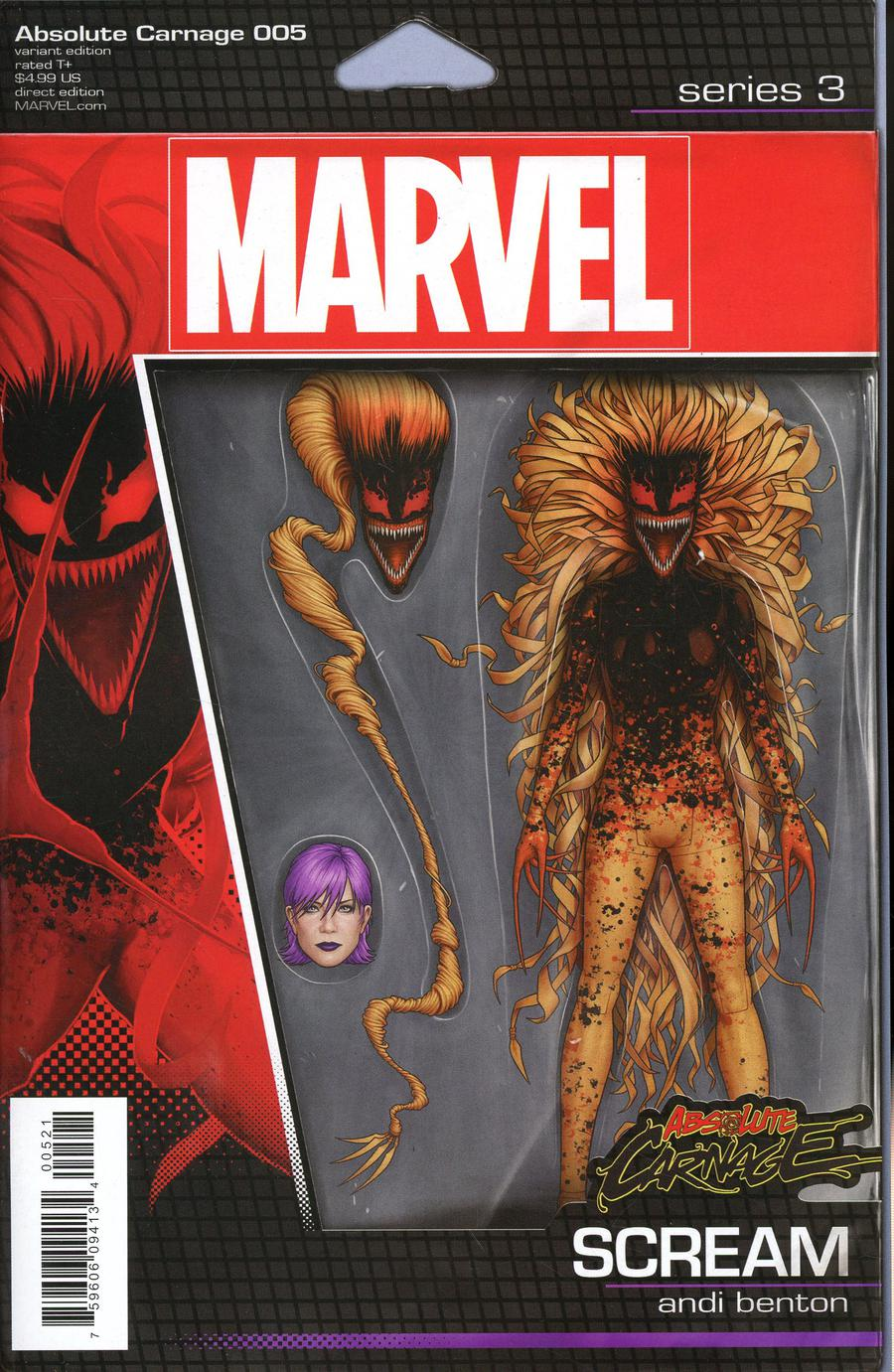 Absolute Carnage #5 Cover B Variant John Tyler Christopher Action Figure Cover