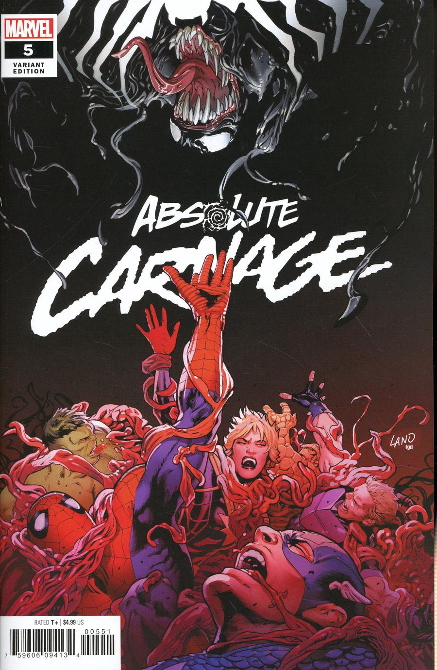 Absolute Carnage #5 Cover D Variant Greg Land Cover
