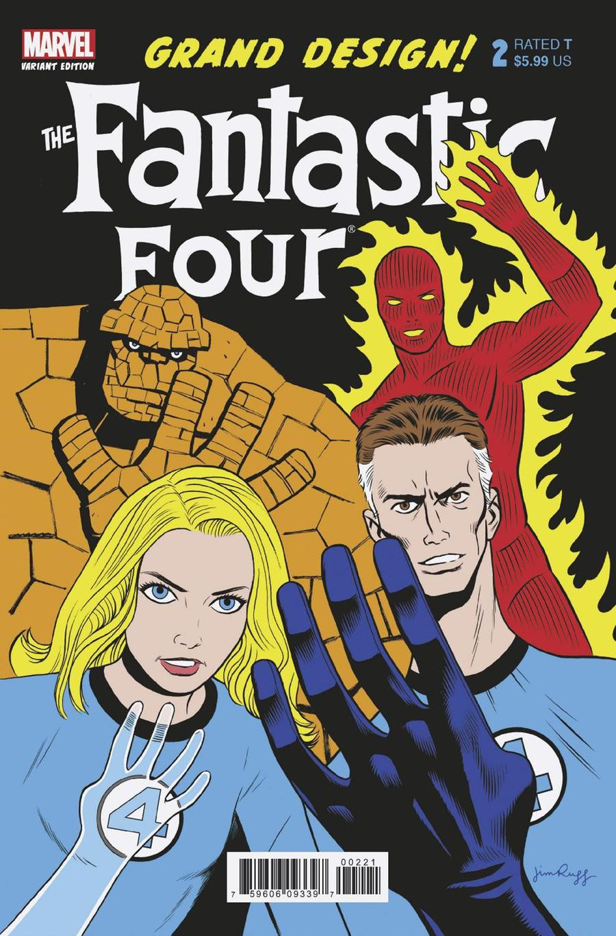 Fantastic Four Grand Design #2 Cover B Variant Jim Rugg Cover