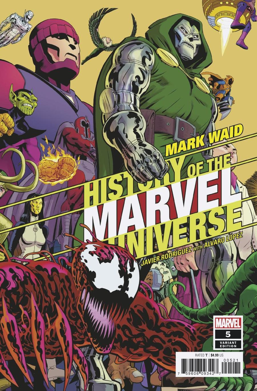 History Of The Marvel Universe #5 Cover B Variant Javier Rodriguez Cover
