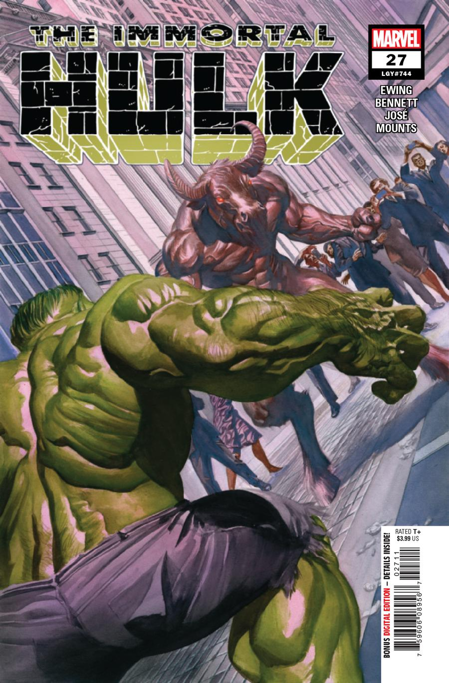 Immortal Hulk #27 Cover A 1st Ptg Regular Alex Ross Cover