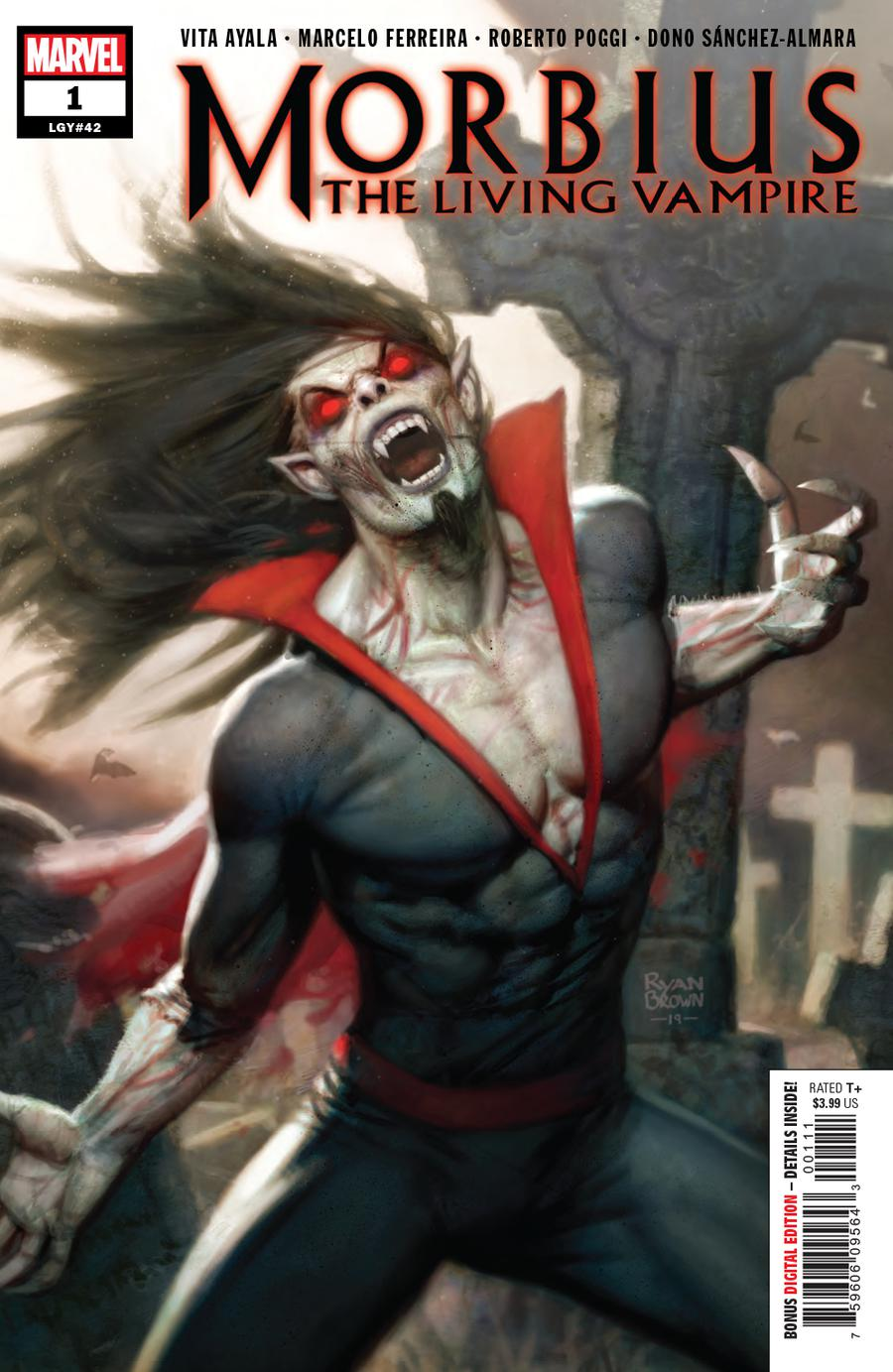 Morbius #1 Cover A 1st Ptg Regular Ryan Brown Cover