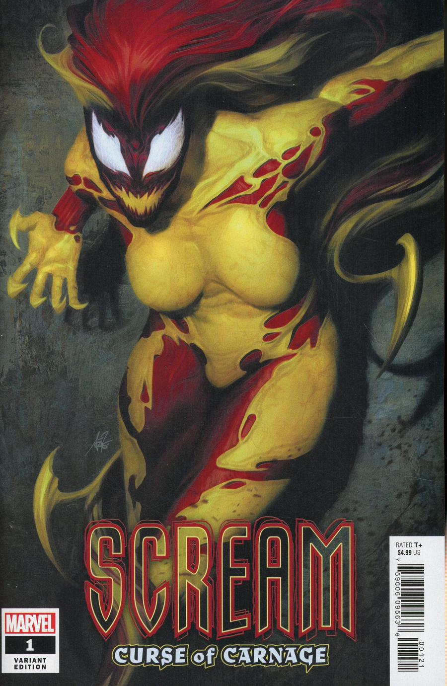 Scream Curse Of Carnage #1 Cover B Variant Stanley Artgerm Lau Cover (Absolute Carnage Tie-In)