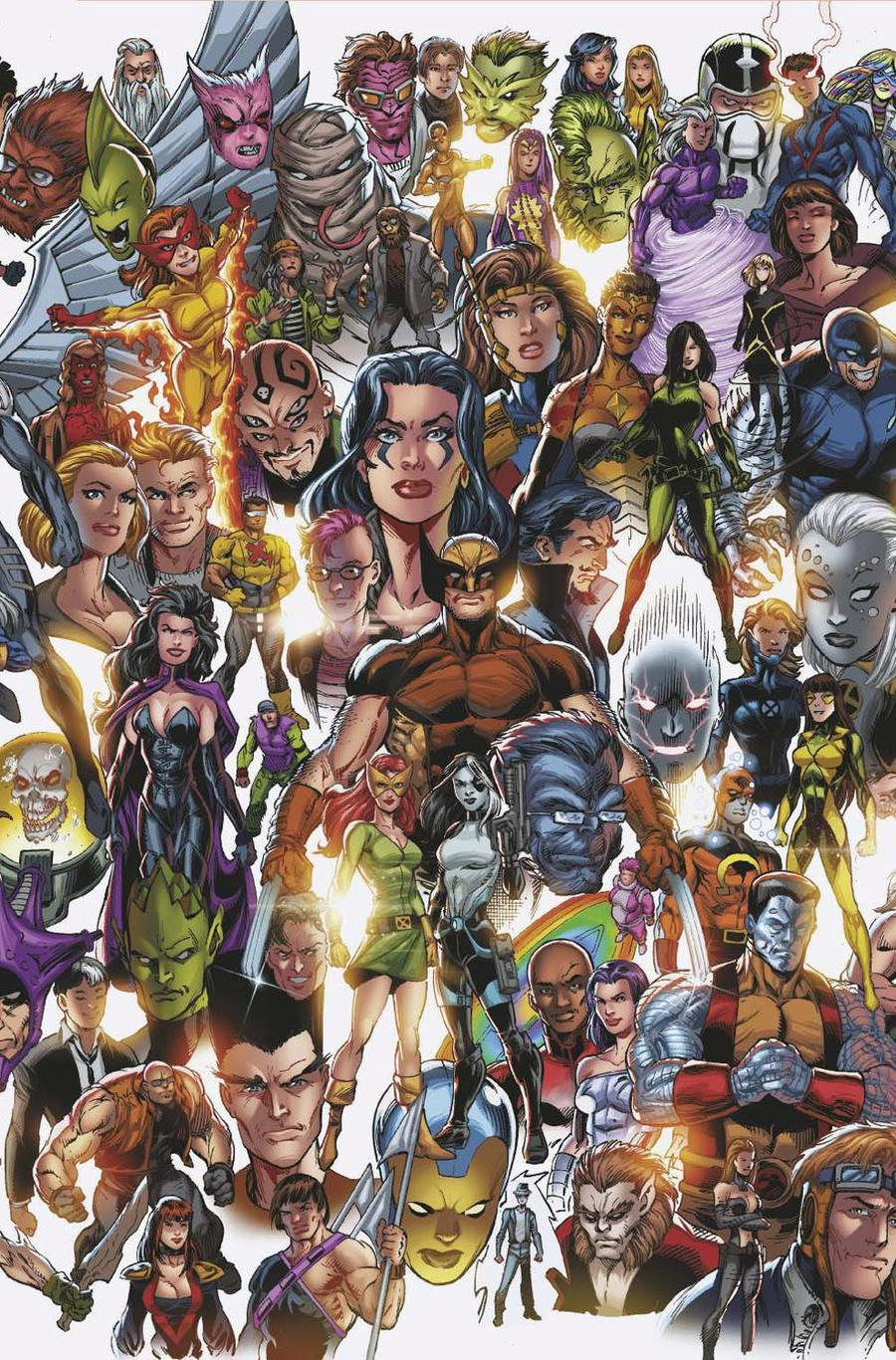 X-Force Vol 6 #1 Cover C Variant Mark Bagley Every Mutant Ever Cover (Dawn Of X Tie-In)
