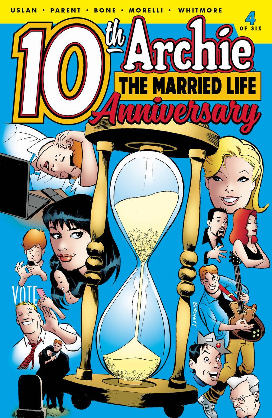 Archie The Married Life 10th Anniversary #4 Cover B Variant Rick Burchett & Glenn Whitmore Cover
