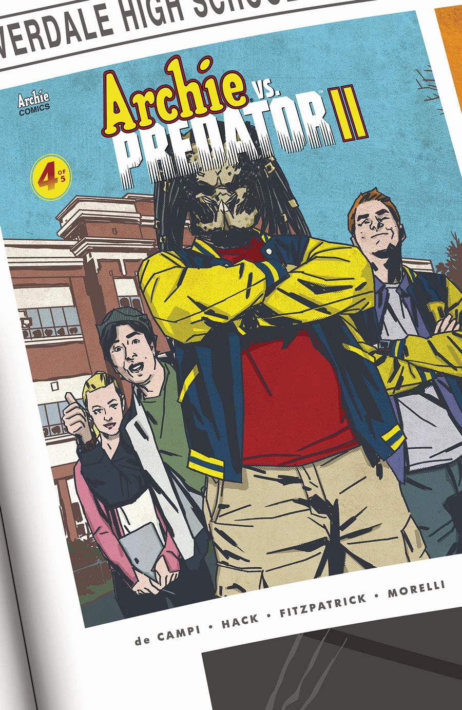 Archie vs Predator II #4 Cover B Variant Matthew Dow Smith Cover