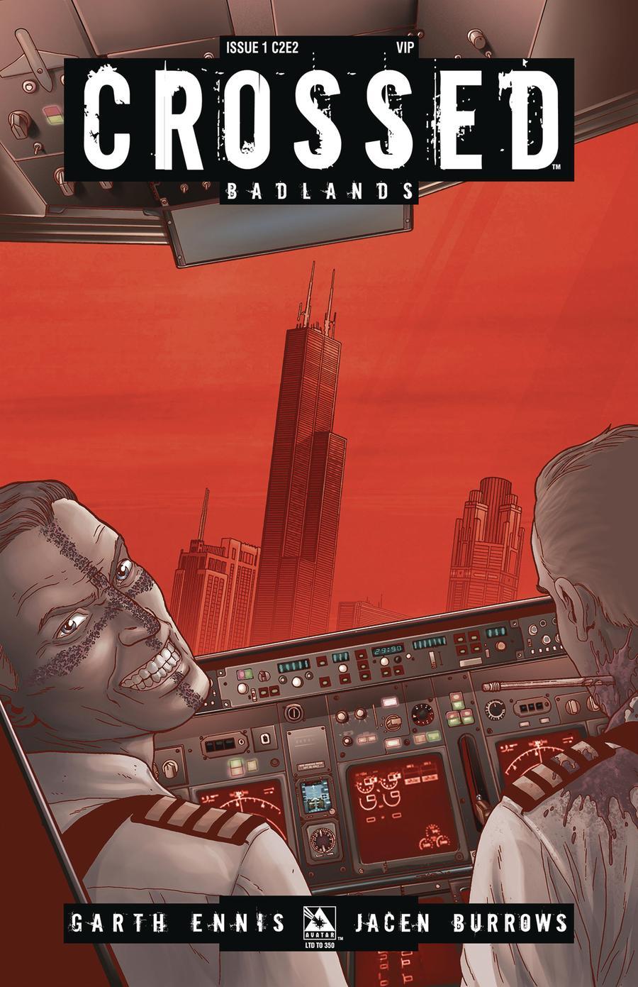 Crossed Badlands #1 Cover P C2E2 VIP Cover