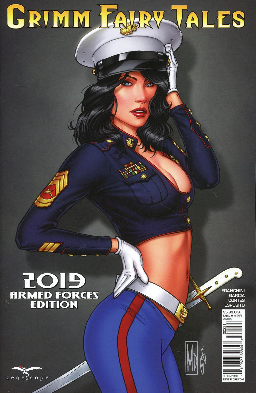 Grimm Fairy Tales 2019 Armed Forces Appreciation Cover C Michael DiPascale