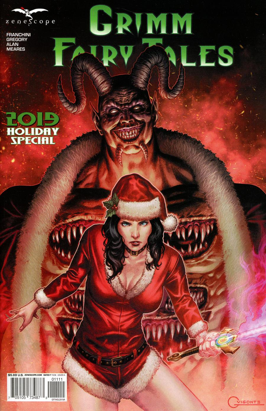 Grimm Fairy Tales 2019 Holiday Special Cover A Geebo Vigonte