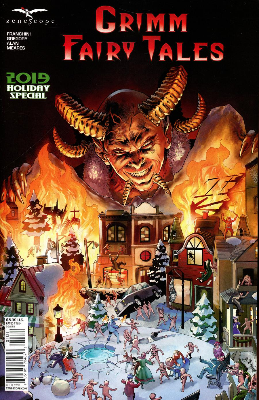 Grimm Fairy Tales 2019 Holiday Special Cover B Martin Coccolo