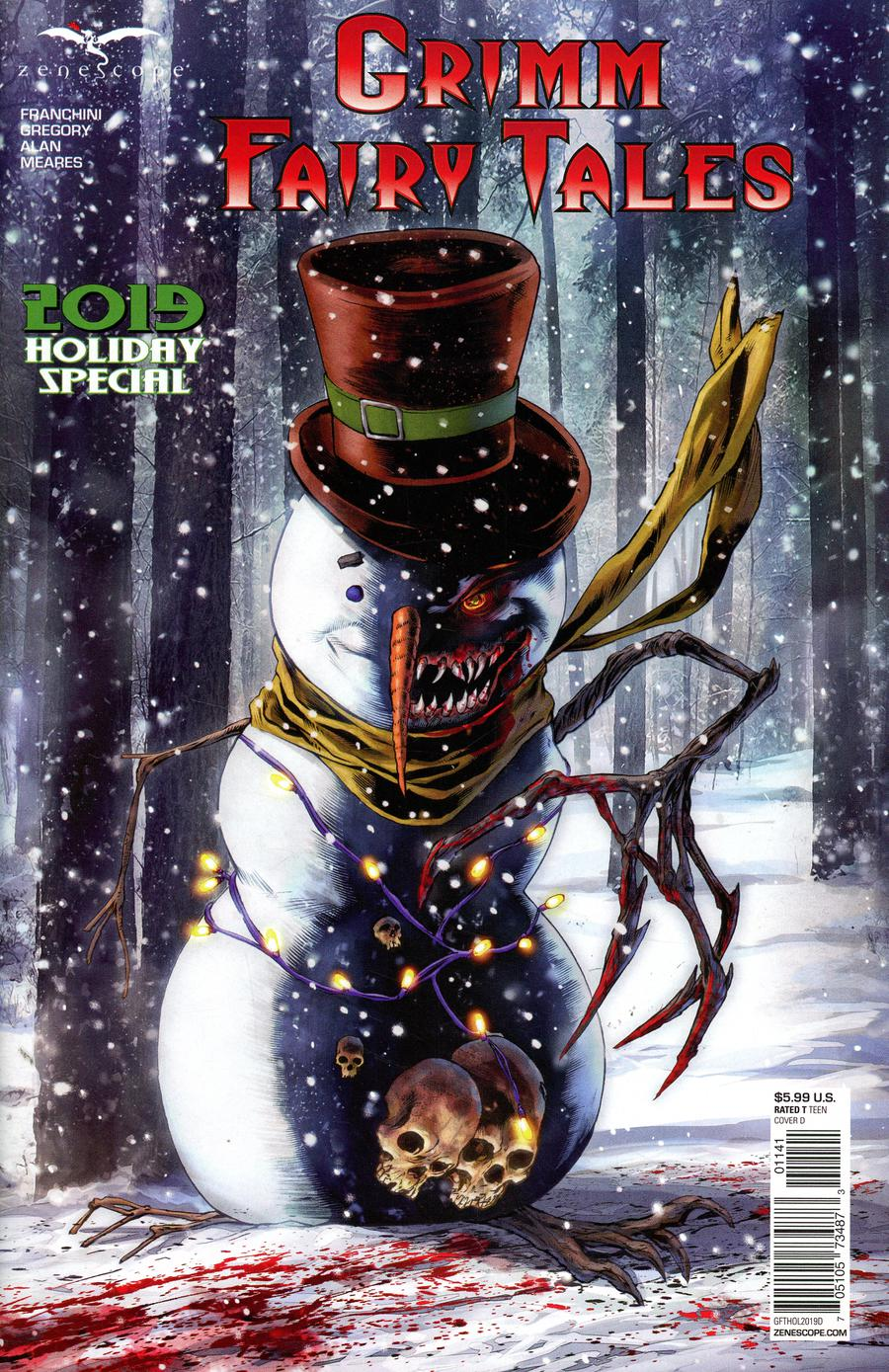Grimm Fairy Tales 2019 Holiday Special Cover D Igor Vitorino