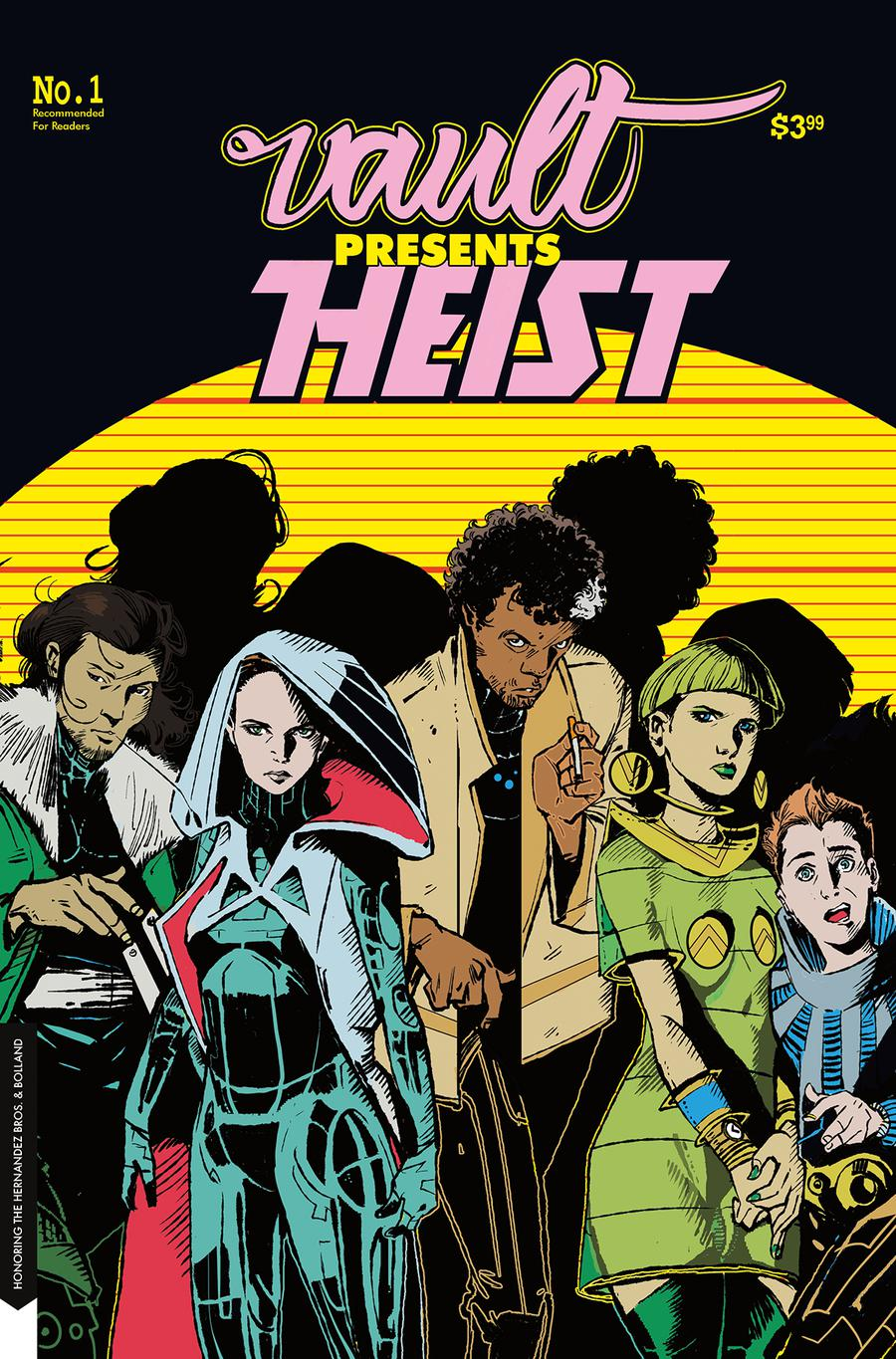 Heist Or How To Steal A Planet #1 Cover B Variant Nathan Gooden Vault Vintage Homage Cover