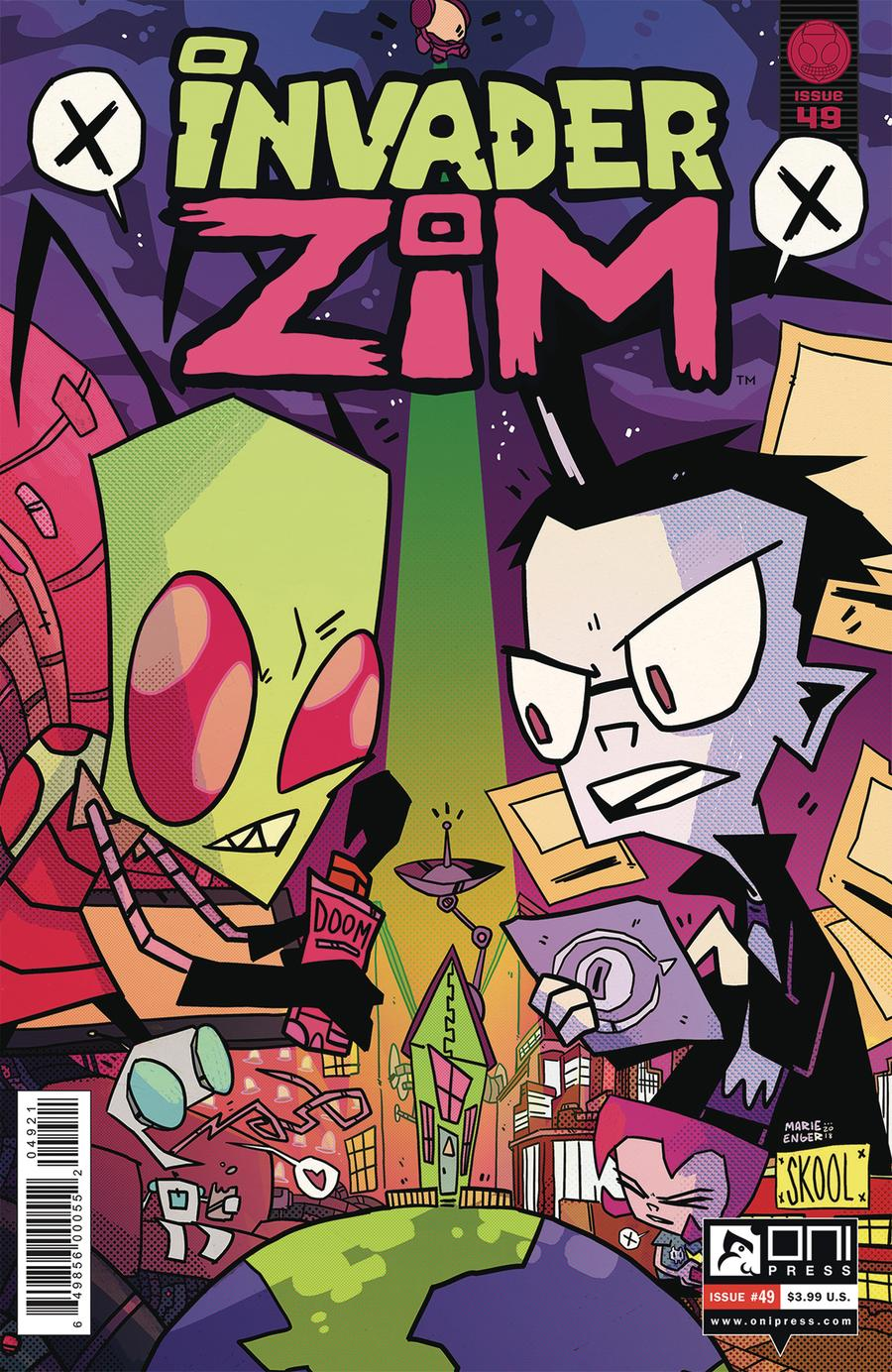 Invader Zim #49 Cover B Variant Marie Enger Cover