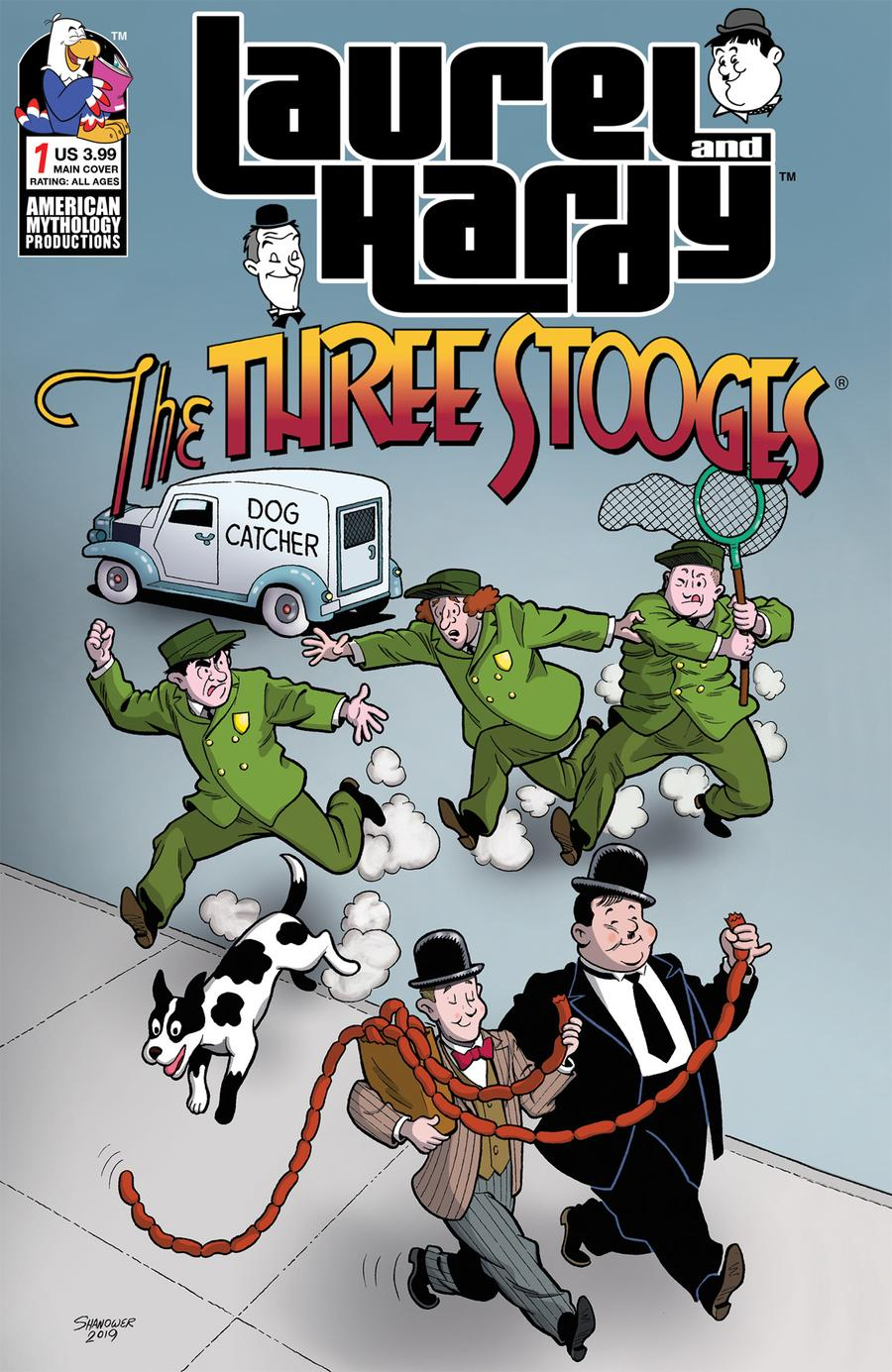 Laurel And Hardy Meet The Three Stooges #1 Cover A Regular Eric Shanower Cover