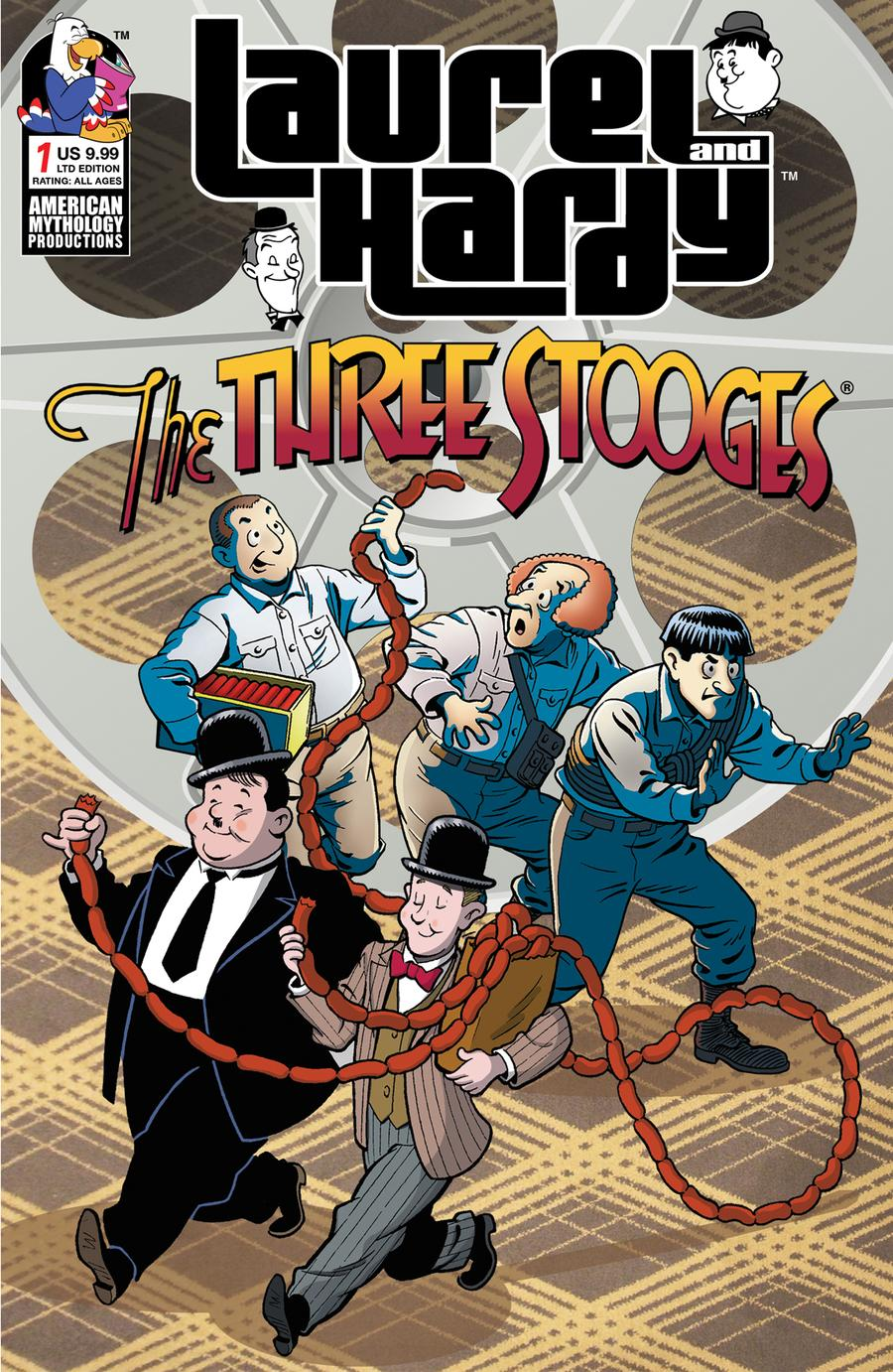Laurel And Hardy Meet The Three Stooges #1 Cover C Limited Edition Class Cartoon Variant Cover