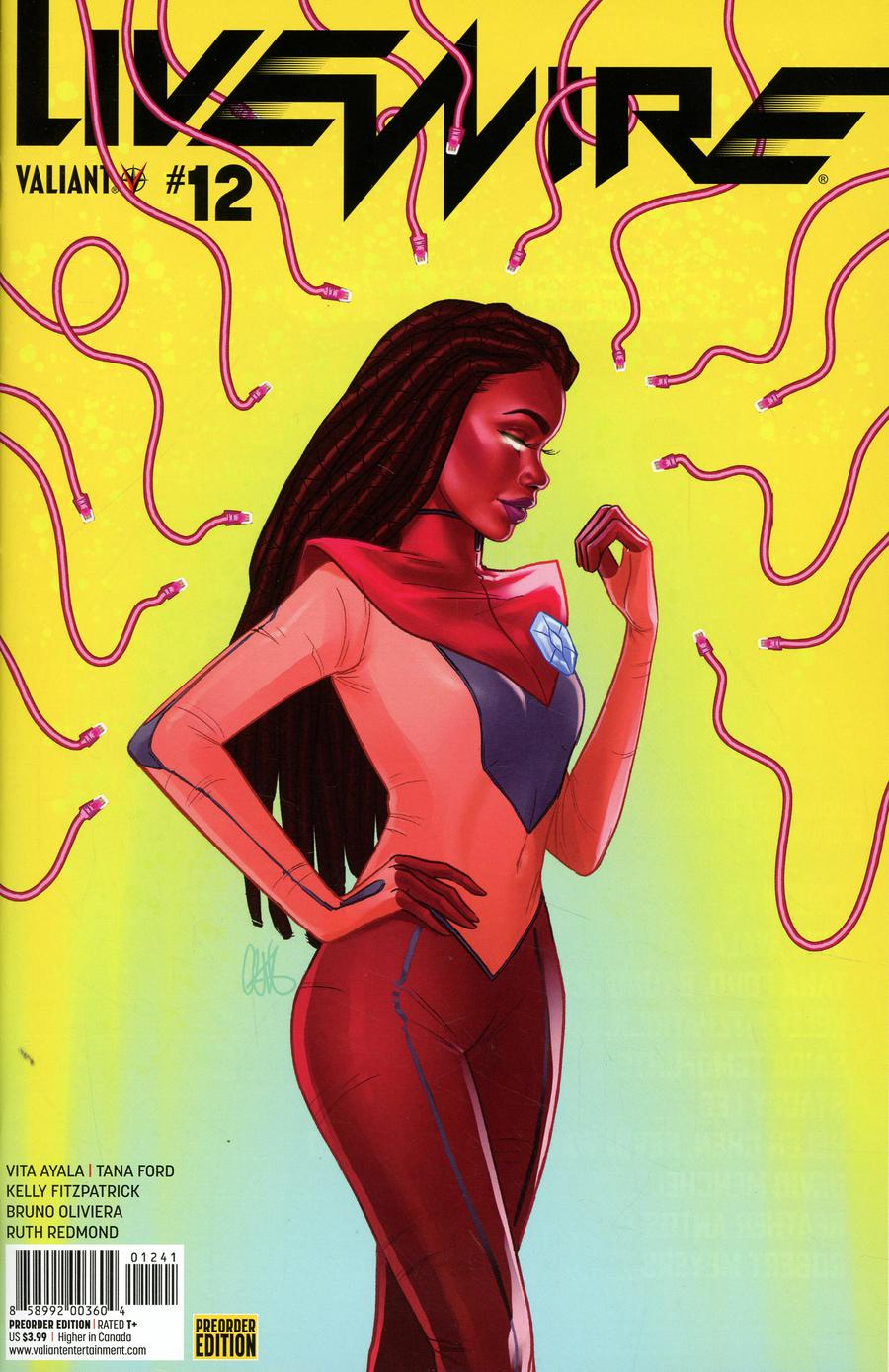Livewire #12 Cover D Variant Chandler Ford Pre-Order Edition