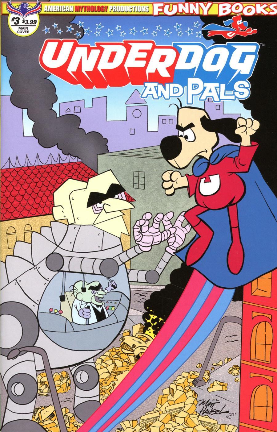 Underdog & Pals #3 Cover A Regular Mat Hansel Hero Cover