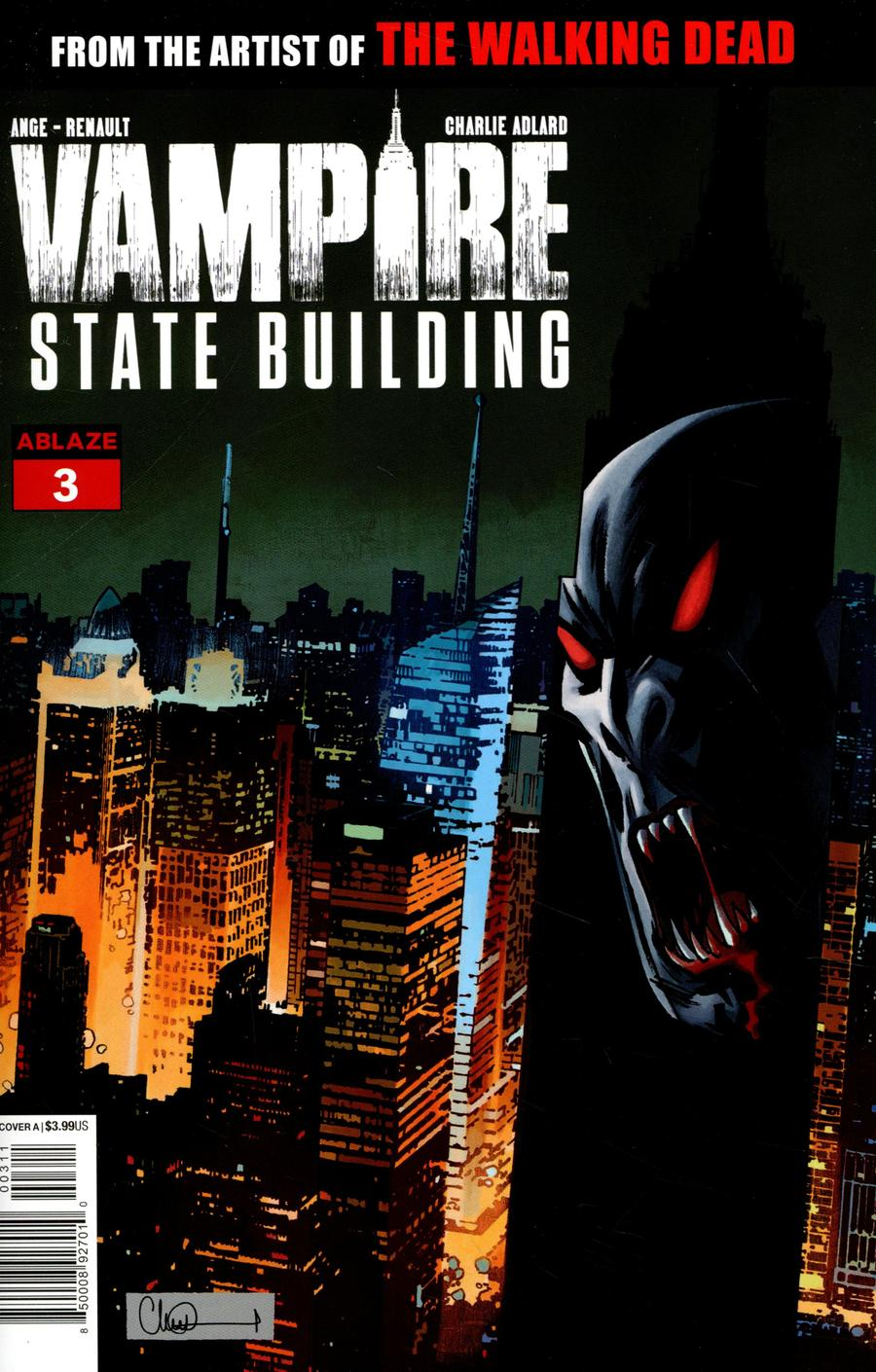 Vampire State Building #3 Cover A Regular Charlie Adlard Empire Statue Building Cover