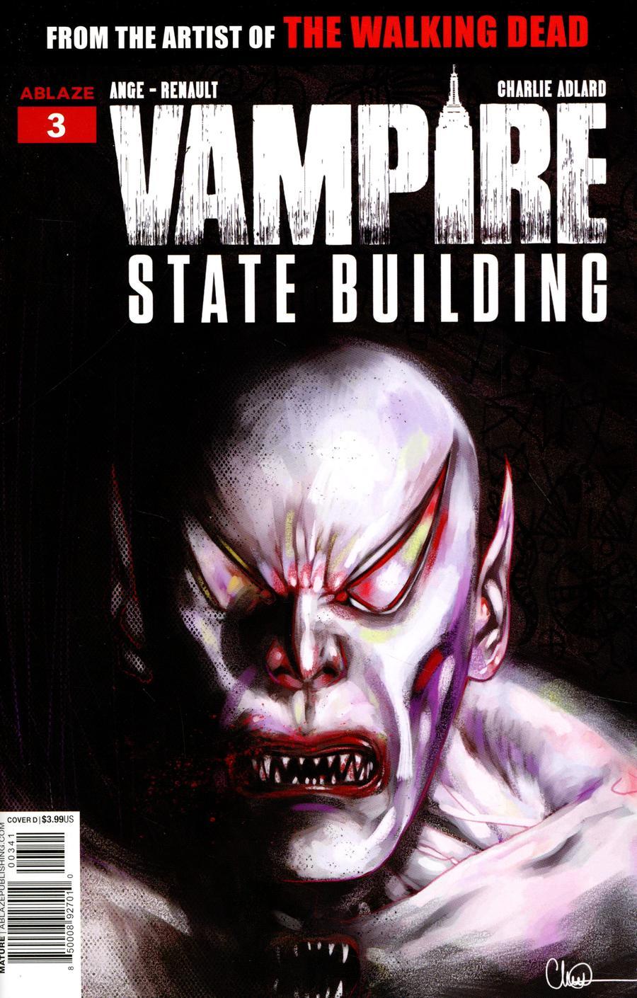 Vampire State Building #3 Cover D Variant Charlie Adlard Vampire God Cover