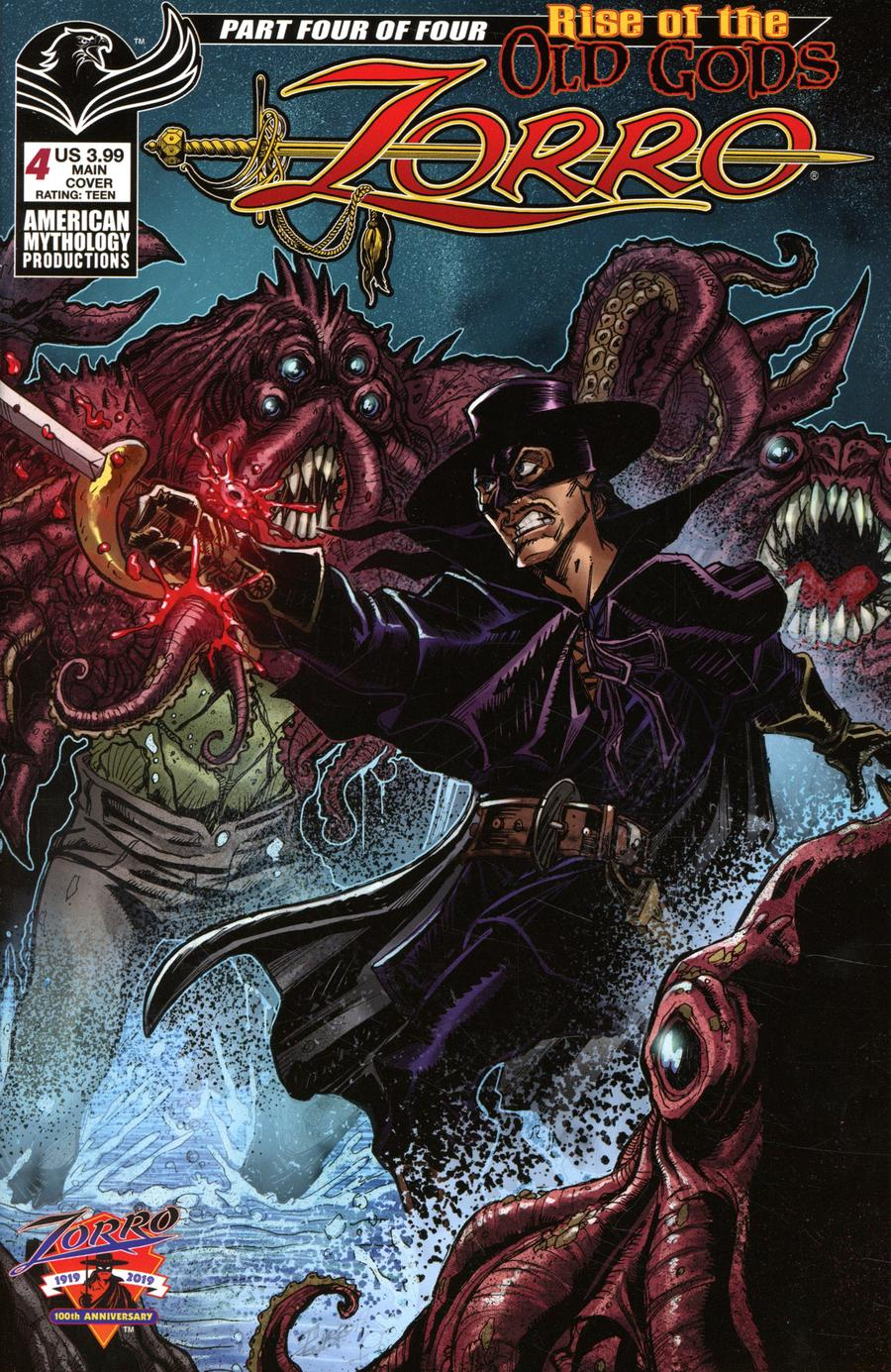 Zorro Rise Of The Old Gods #4 Cover A Regular Puis Calzada Cover