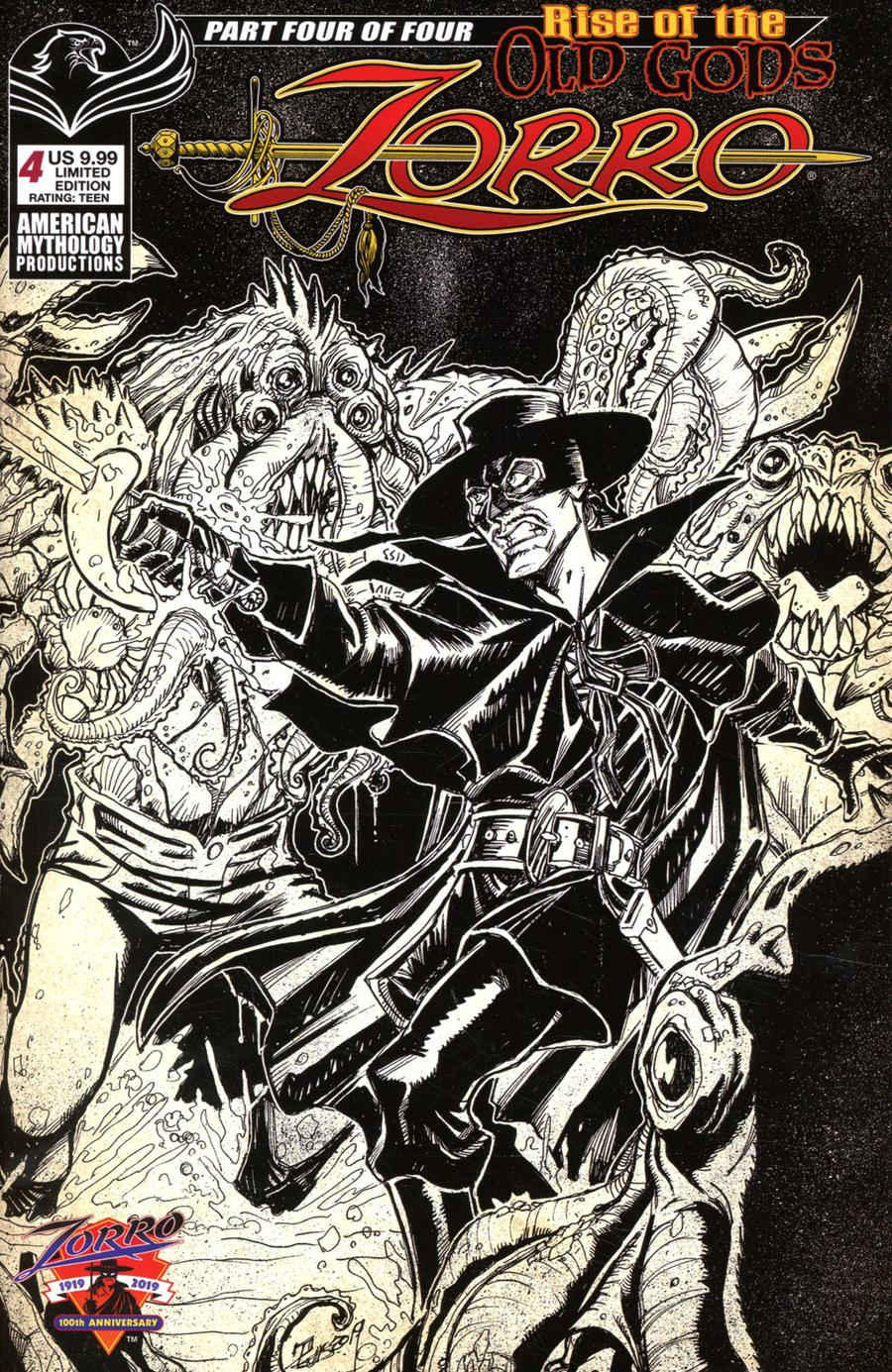 Zorro Rise Of The Old Gods #4 Cover B Limited Edition Puis Calzada Pulp Cover