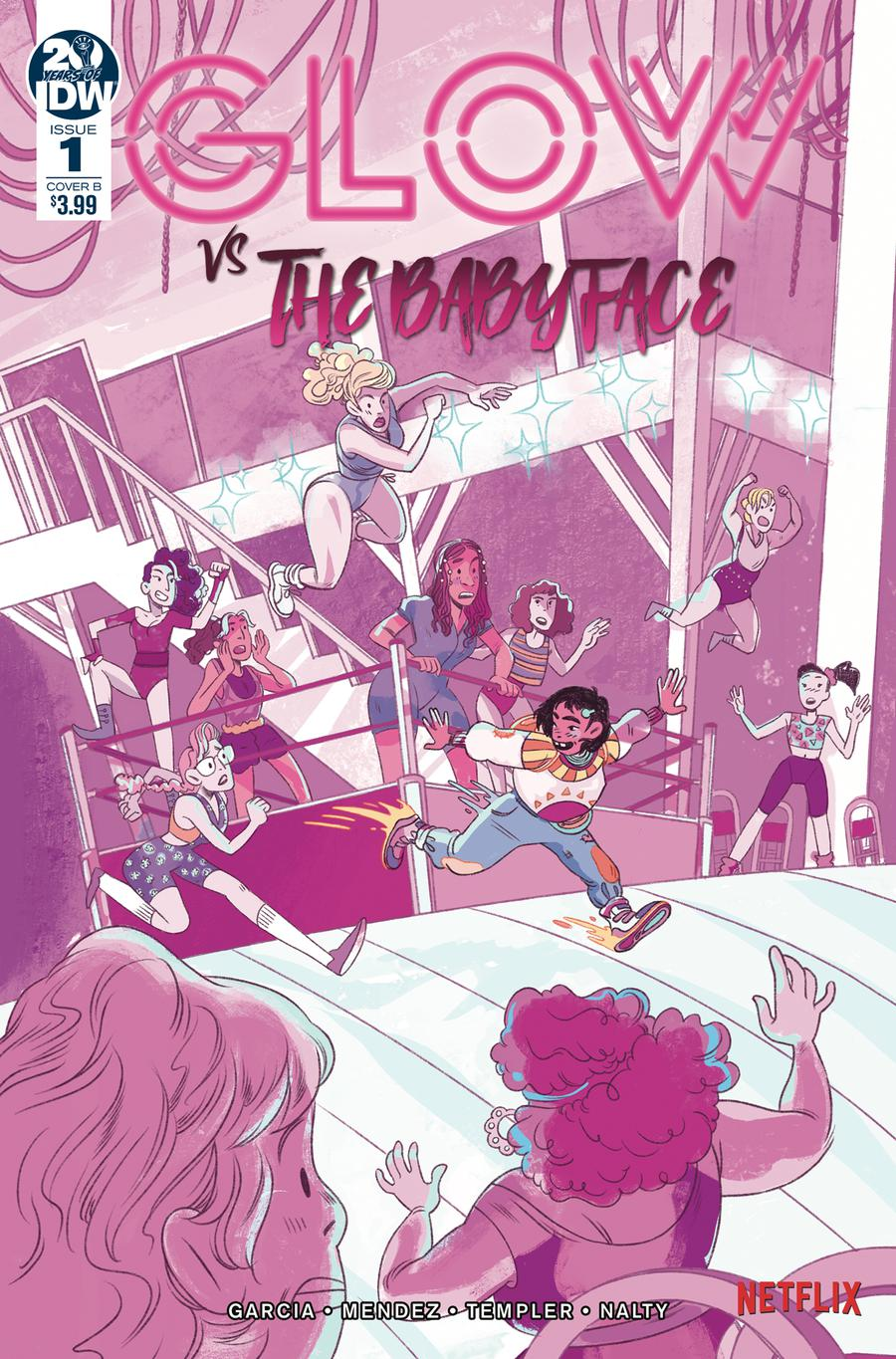 GLOW vs The Babyface #1 Cover B Variant Nicole Goux Cover
