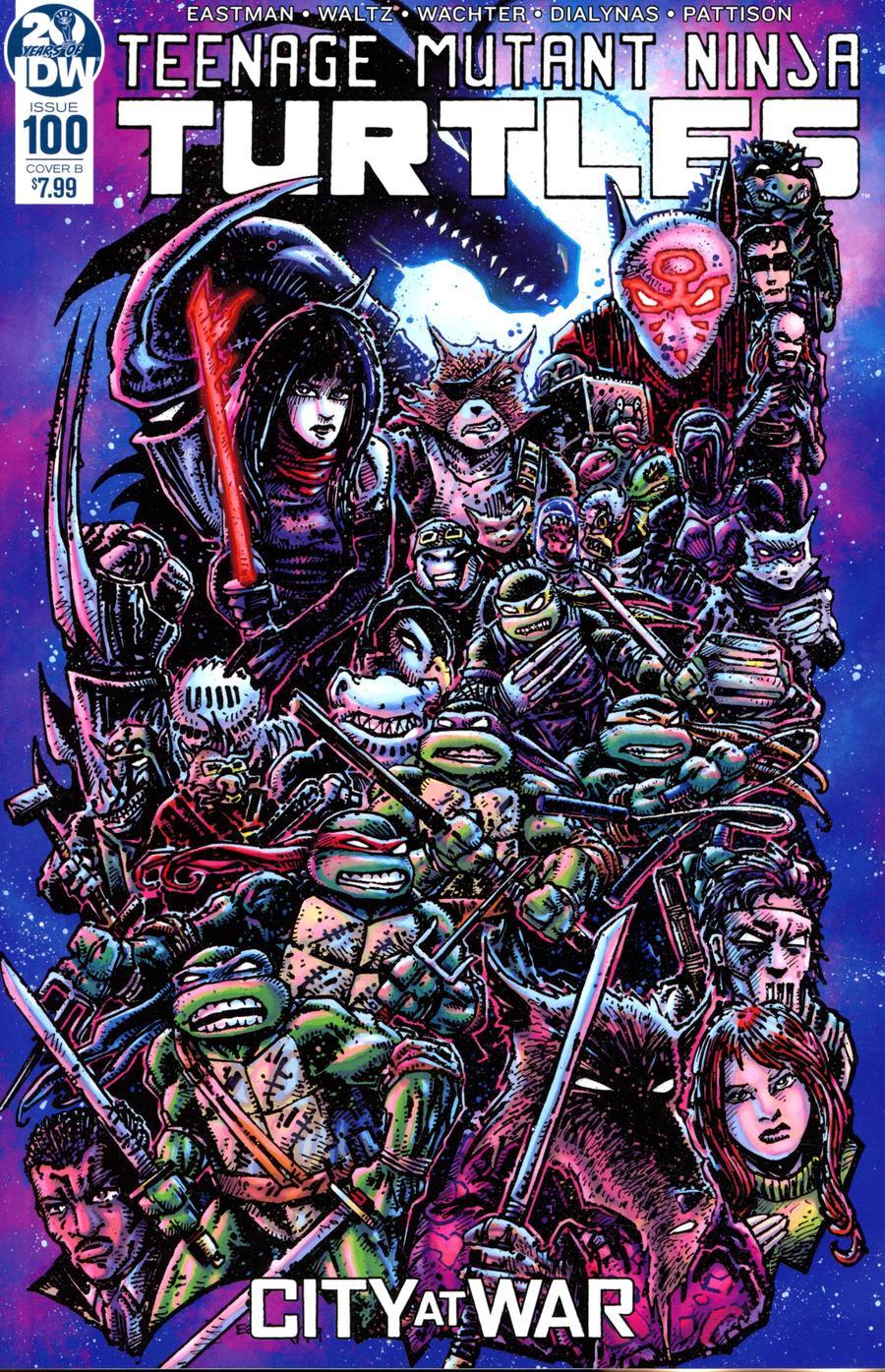 Teenage Mutant Ninja Turtles Vol 5 #100 Cover B Variant Kevin Eastman Cover