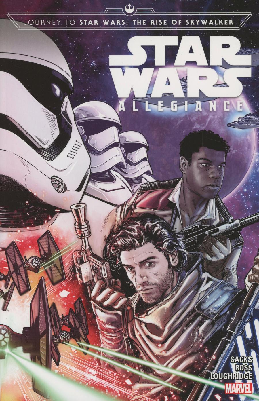 Journey To Star Wars Rise Of Skywalker Allegiance TP Direct Market Marco Checchetto Finn & Poe Variant Cover