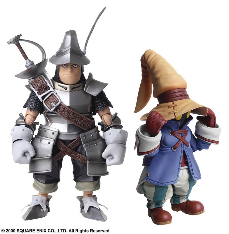 Final Fantasy IX Bring Arts Action Figure Set - Vivi & Steiner