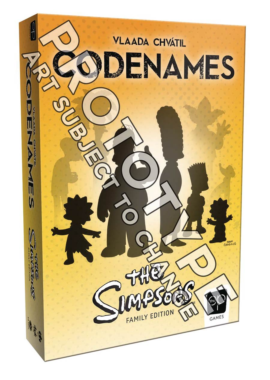 Codenames Simpsons Edition Card Game