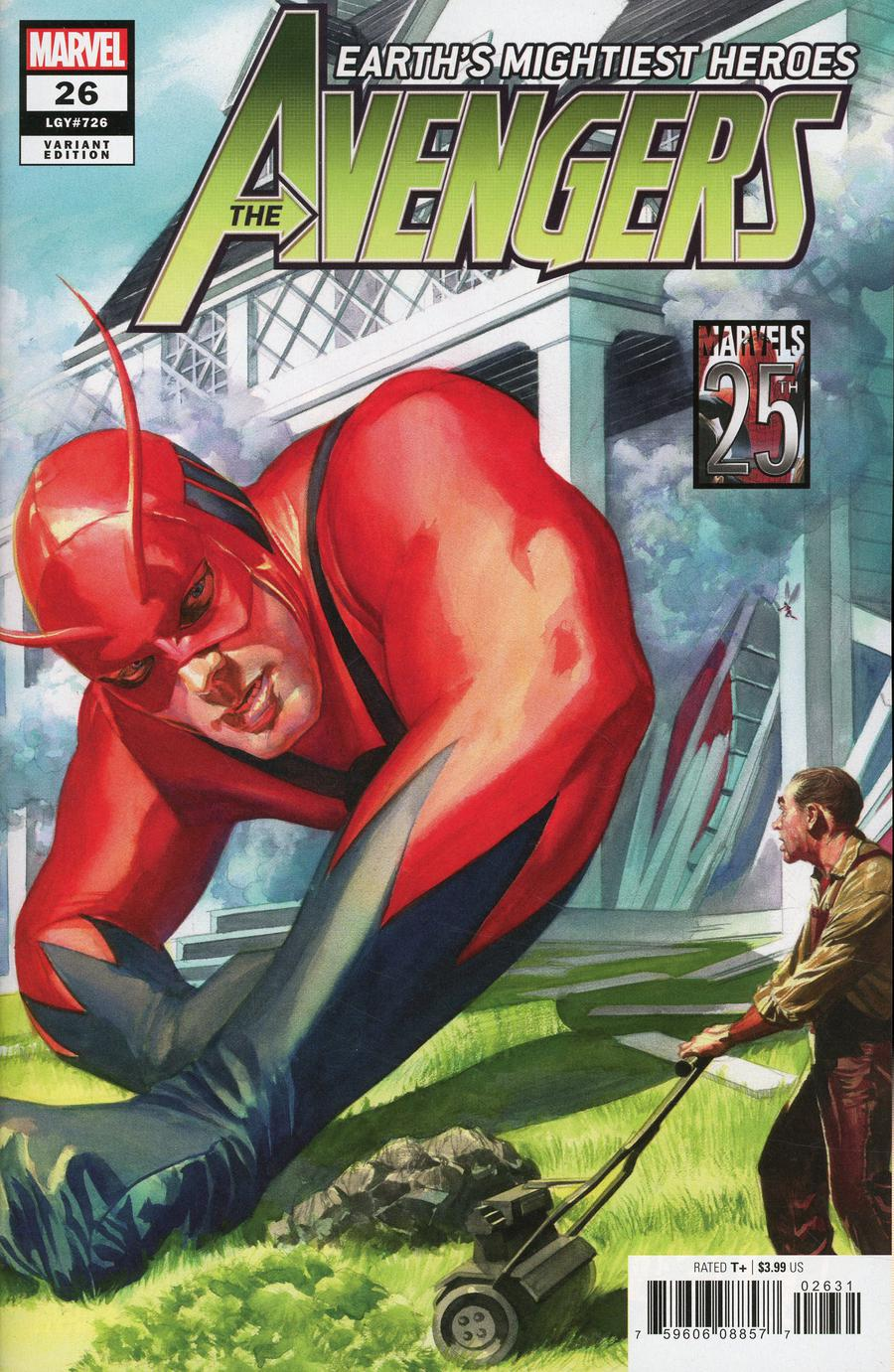 Avengers Vol 7 #26 Cover B Variant Alex Ross Marvels 25th Cover