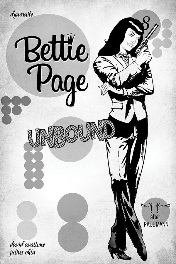 Bettie Page Unbound #8 Cover M Incentive Pasquale Qualano Black & White Cover