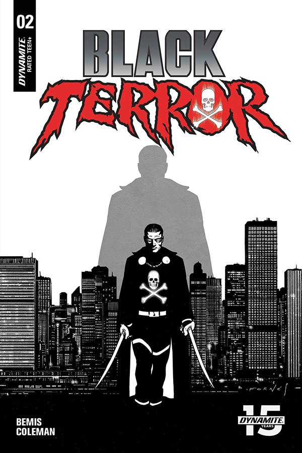 Black Terror Vol 4 #2 Cover F Incentive Jorge Fornes Black & White Cover