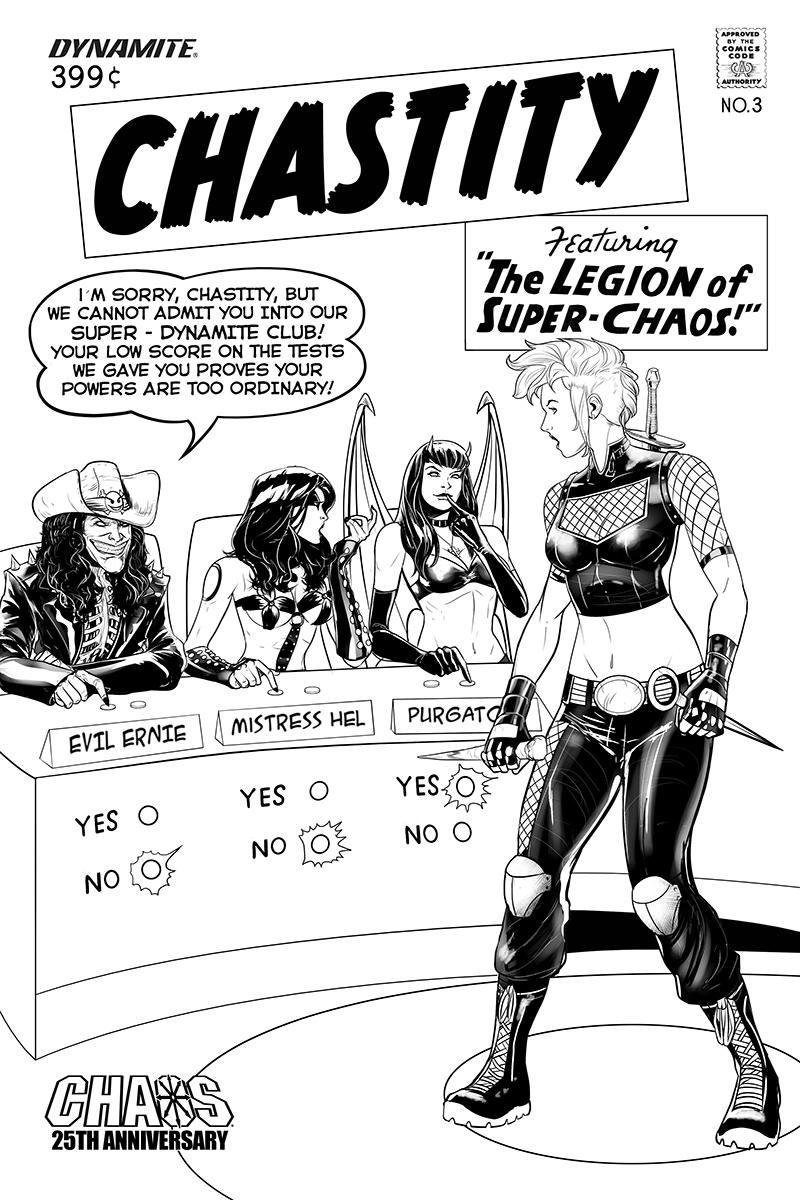 Chastity Vol 2 #3 Cover E Incentive Daniel Maine Black & White Cover