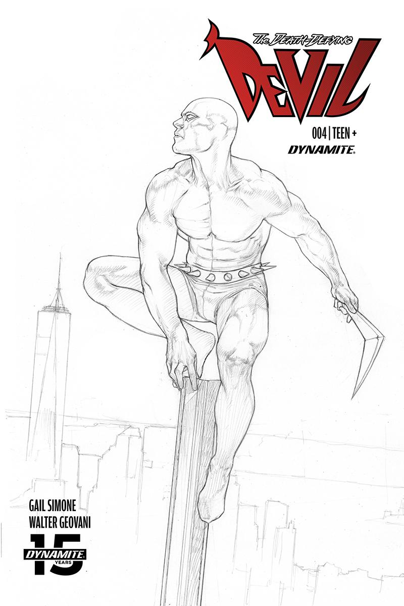 Death-Defying Devil Vol 2 #4 Cover D Incentive Riccardo Federici Black & White Cover