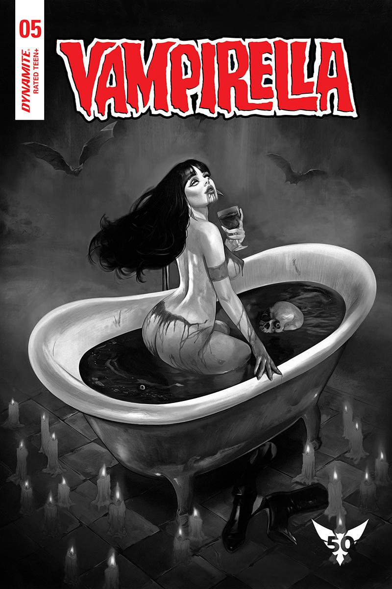 Vampirella Vol 8 #5 Cover L Incentive Fay Dalton Black & White Cover