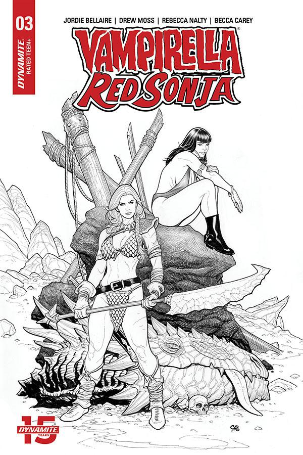 Vampirella Red Sonja #3 Cover K Incentive Frank Cho Pure Line Art Cover