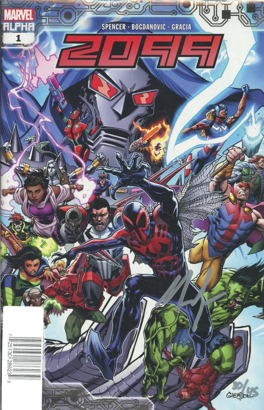Marvel 2099 #1 DF Signed By Nick Spencer Plus 1