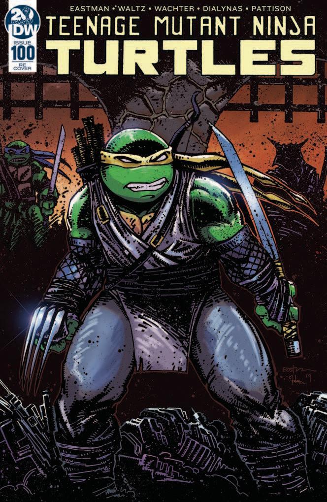 Teenage Mutant Ninja Turtles Vol 5 #100 DF Exclusive Kevin Eastman Variant Cover Plus 1