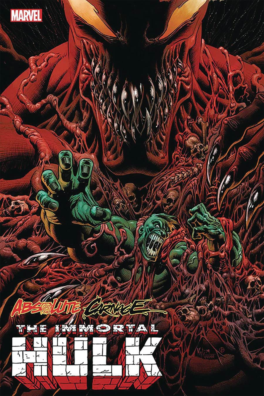 Absolute Carnage Immortal Hulk #1 Cover E DF Signed By Kyle Hotz