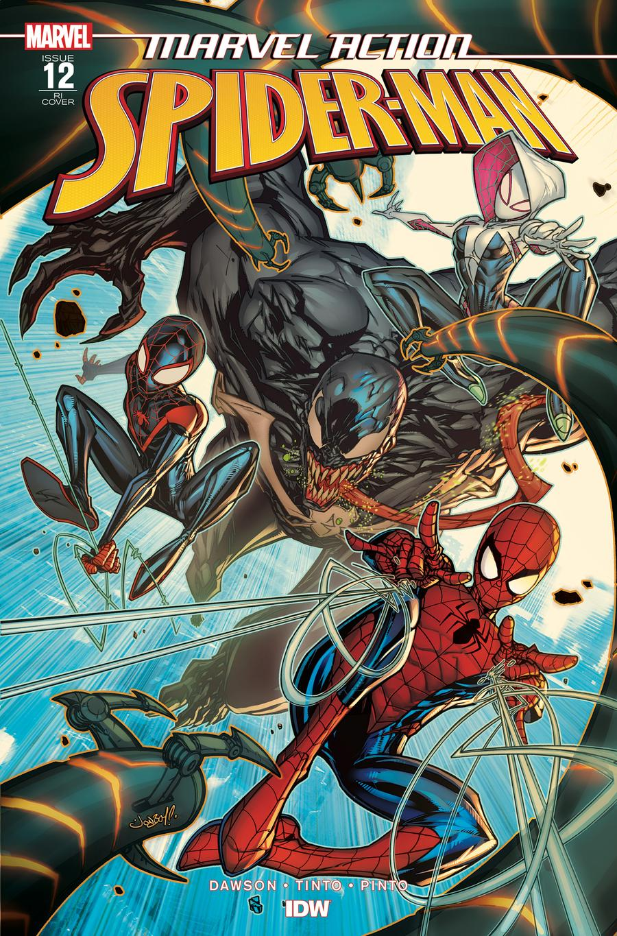 Marvel Action Spider-Man #12 Cover B Incentive Jonboy Meyers Variant Cover