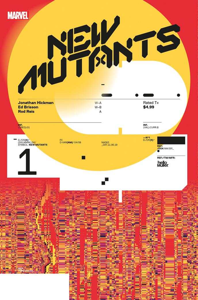 New Mutants Vol 4 #1 Cover E Incentive Tom Muller Design Variant Cover (Dawn Of X Tie-In)