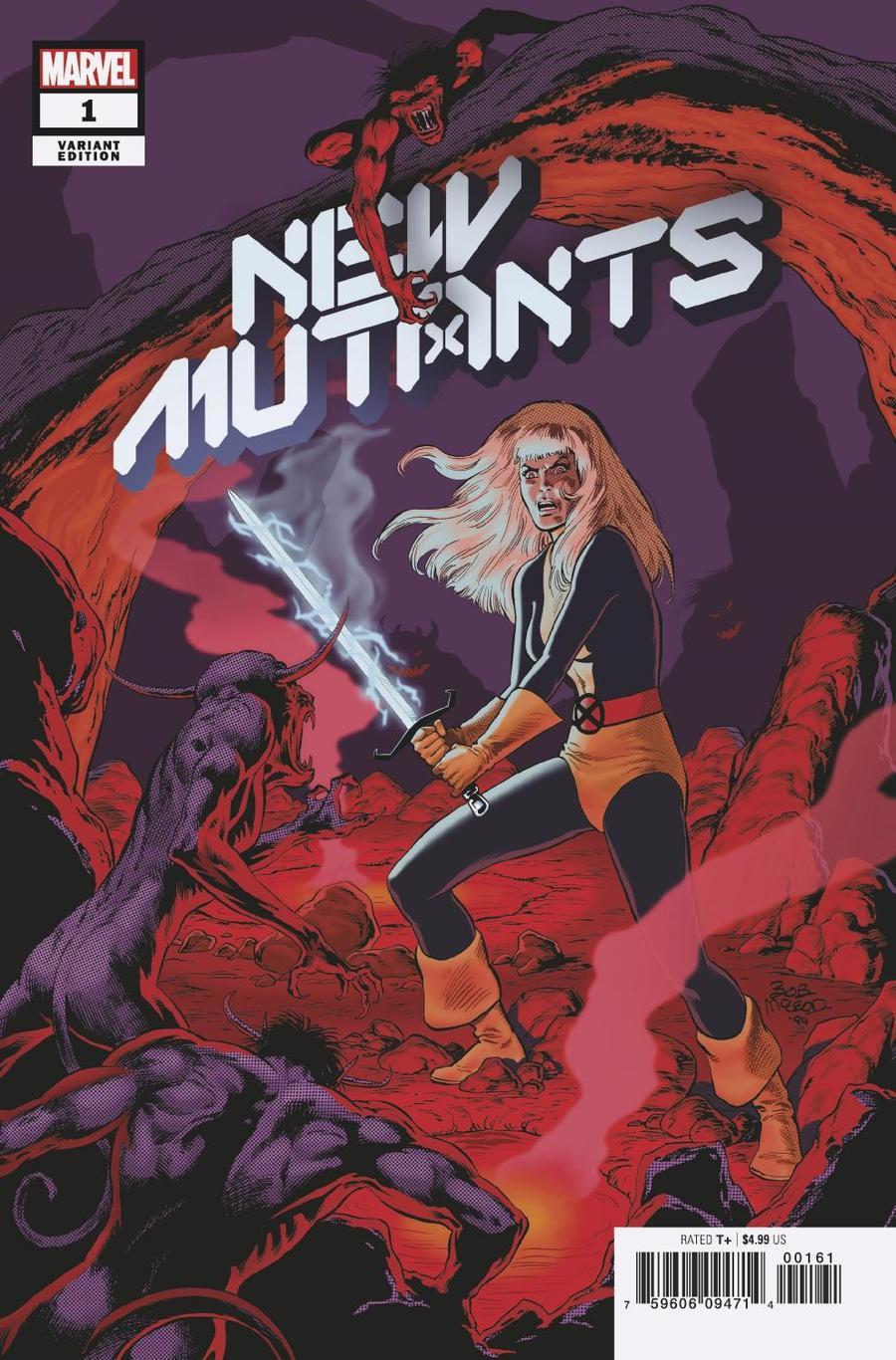 New Mutants Vol 4 #1 Cover H Incentive Bob McLeod Hidden Gem Variant Cover (Dawn Of X Tie-In)